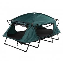 Двухместную раскладушку с палаткой можно установить за несколько минут