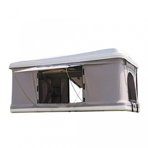 Палатка на крышу автомобиля T-ROLL ABS-белый, B-125, ткань темно-серая