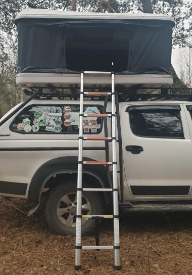 Палатка на крышу автомобиля T-ROLL ABS-белый/черный, B-145, ткань темно-серая