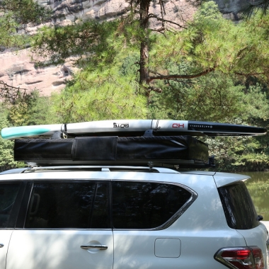 Палатка на крышу автомобиля T-ROLL ALUM B-125R, ткань светло-серая