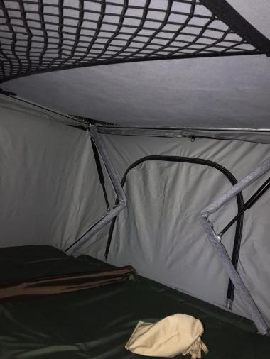 Палатка на крышу автомобиля T-ROLL ALUM B-125, ткань светло-серая